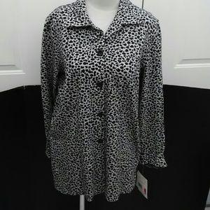 Liz Claiborne Animal Print jacket